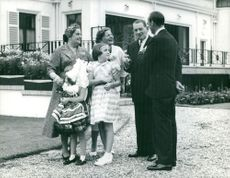 Rene Coty with family.