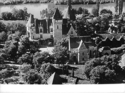 View of the castle of Josephine Baker, 1964.