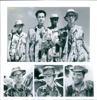 "Lori Petty, Pauly Shore, David Alan Grier, and Andy Dick of the 1994 movie, ""In the Army Now""."