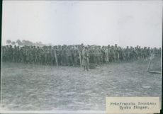 German prisoners gathered at the French front.