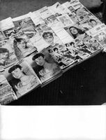 Farah Pahlavi`s photographs in magazines.