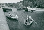 Södertälje channel. Even for these boats the lock ports must be opened
