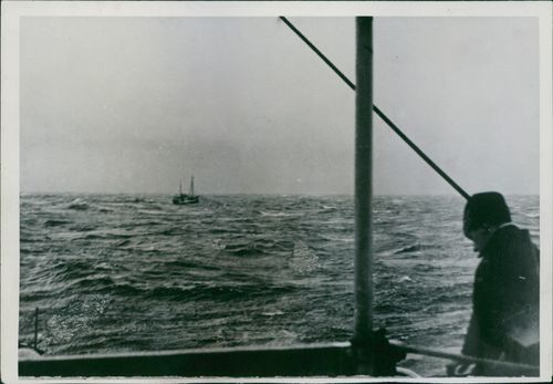 A man standing in the ship.