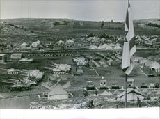 An aerial view of an army camp in Israel