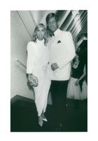 Susan George and her husband Simon MacCorkindale at the Cannes Film Festival
