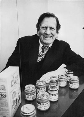Frank Nicholas with some of his company's products.