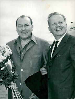 American jazz musician Woody Herman with orchestra launches the Swedish Tour.