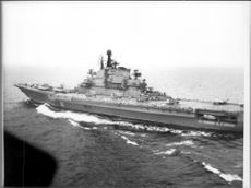 "Soviet fleet's big hangover cruiser ""Kiev"" in the Baltic Sea"