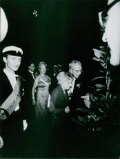 Princess Sibylla and other royalties in the party, 1966.