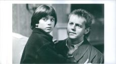 1993 A scene of an American actor Elijah Jordan Wood  and an American actor, singer, director, and writer David Bowditch Morse from the film Face of Evil.