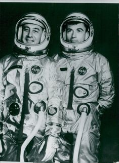 Astronauts Virgil Grissom and John Young