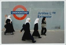 Outside the Jubilee Line subway station