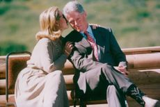 Bill och Hillary Clinton vid Grand Teton National Park