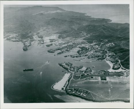 Airview of the U.S Naval Base.