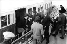The Duchess of Windsor went abroad the ship