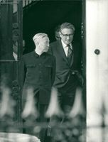 Le Duc Tho and Henry Kissinger in meeting