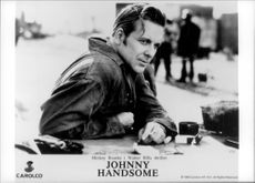 "Mickey Rourke in the movie ""Johnny Handsome""."