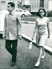Princess Soraya walking.