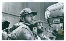 Director Phil Alden Robinson on the set of his 1992 film, Sneakers.