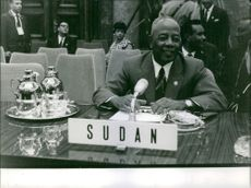 President Ibrahim Abboud during a conference, 1963.