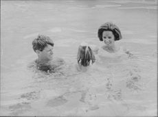 "Robert Francis ""Bobby"" Kennedy enjoying in water."