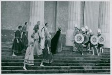 """From the performance of """"Agamemnon"""" at the Skansen Center"""
