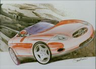 Motor car marcedes:Benz design.