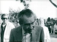 USA's former president Richard Nixon (th) on the golf course in Carlsbad, California, is attending a charity contest at LaCosta Country Club.