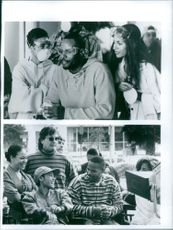 1994  Two scenes of  Keenen Ivory Wayans, Sr.,  Jada Koren Pinkett Smith and Salli Elise Richardson from the movie A Low Down Dirty Shame.