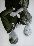 A man and woman during their photo shoot.
