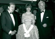 Vaclav Havel, Gloria von Thurn and Taxis and Richard von Weizsäcker at the Rickard-Wagner Festival