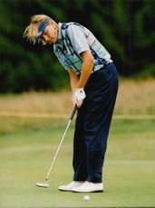 Golf player Lotta Neuman during the European Tour.