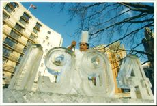 Henry Gano's New Year Ice Sculpture