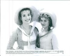 """1995 A scene of Kate Elizabeth Winslet and Emma Thompson from the  American period drama film directed by Ang Lee """"Sense and Sensibility""""."""