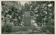 Postcard of Sten Sture the monument in Ulricehamn.