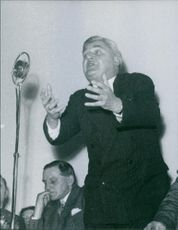 Aneurin Bevan is stating a speech.