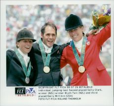 Selly Clark, Blyth Tait and Kerry Millikin competed in hopping during the Olympics.
