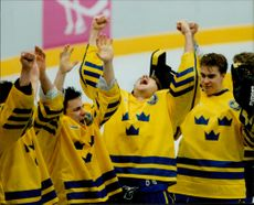 Olympic Games in Lillehammer - Ice Hockey. Swedish gold jubilee in the match against Canada