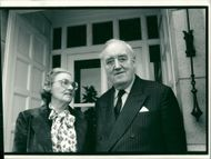 Viscount William Whitelaw with his wife Mrs Cecilia