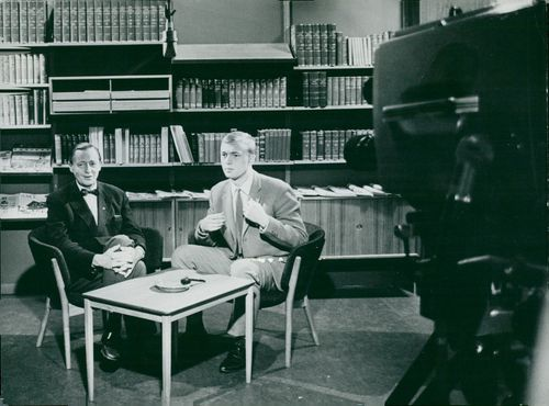Jarl Hjalmarsson, party leader for the moderators at a television interview