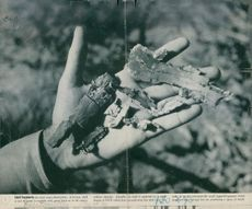 Shell fragments, Engalnd, 1941.