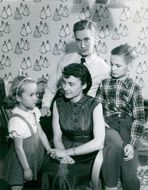 Arne Dahlberg with wife Helga, son Titt and daughter Pia.