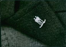 A badge in the coat.
