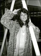 Actor Samantha Eggar photographed at London Heathrow Airport.