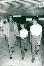 Sophia Loren is welcomed home by her two sons Carlo and Eduardo