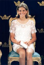 Princess Madeleine during the celebration of her sister Crown Princess Victoria's 18th birthday at the Palace.