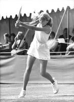 Tracy Austin playing tennis, 1978.