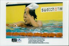 OS in Atlanta 1996. Louise Karlsson disappointed after the final at 200 meters medley