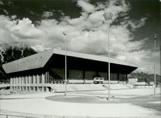 OS Innsbruck 1964. The Olympic Ice Palace in Innsbruck