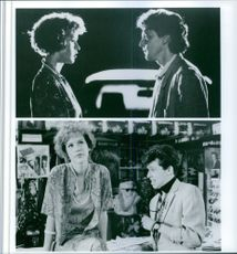 """Different scenes from the movie """"Pretty in Pink"""", with Molly Ringwald as Andie Walsh, Andrew McCarthy as Blane McDonough and Jon Cryer as Philip F. """"Duckie"""" Dale, 1986."""